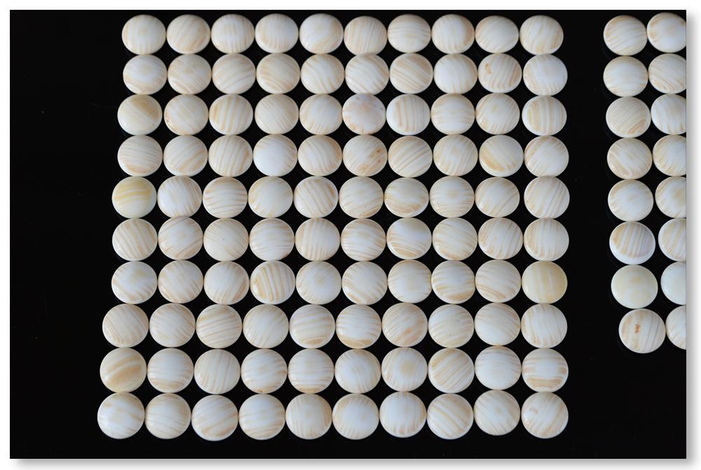 日向特産 スワブテ 本蛤 碁石 雪印 33号 桑柾目碁笥 極上品