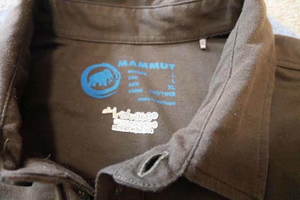 MAMMUT マムート drirelease ドライリリース 半袖 ポロ シャツ 速乾 ストレッチ Lサイズ_画像4