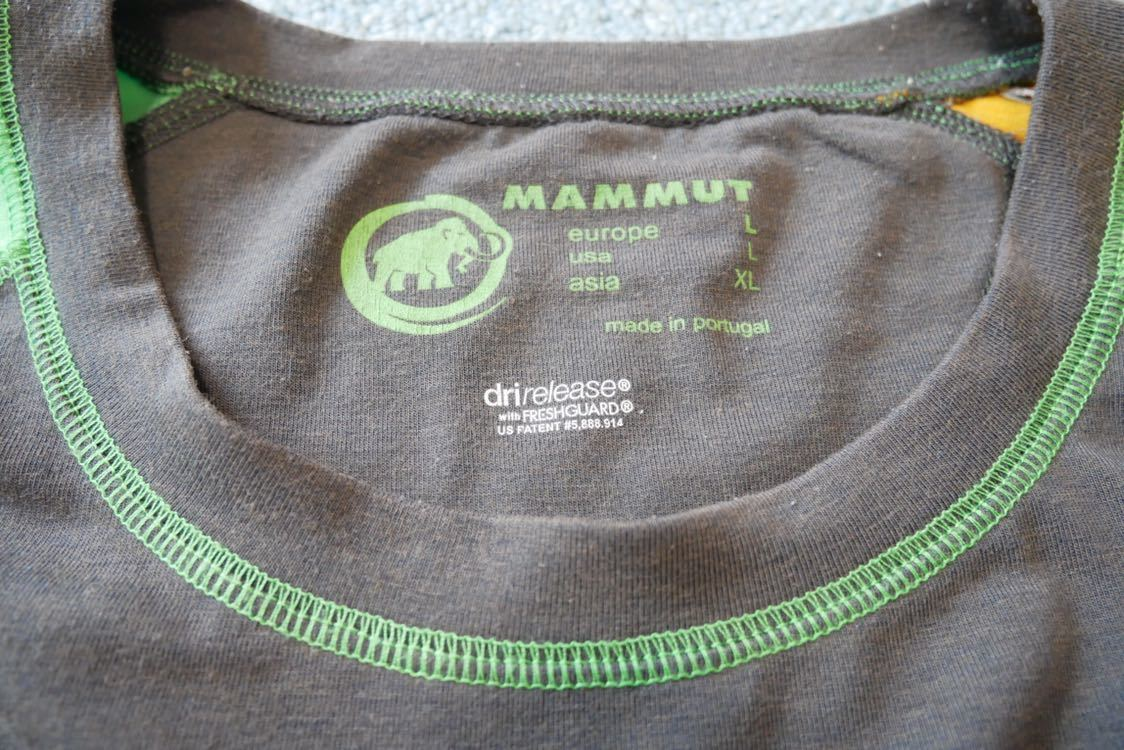MAMMUT マムート drirelease ドライリリース Tシャツ 速乾 ストレッチ Lサイズ_画像6