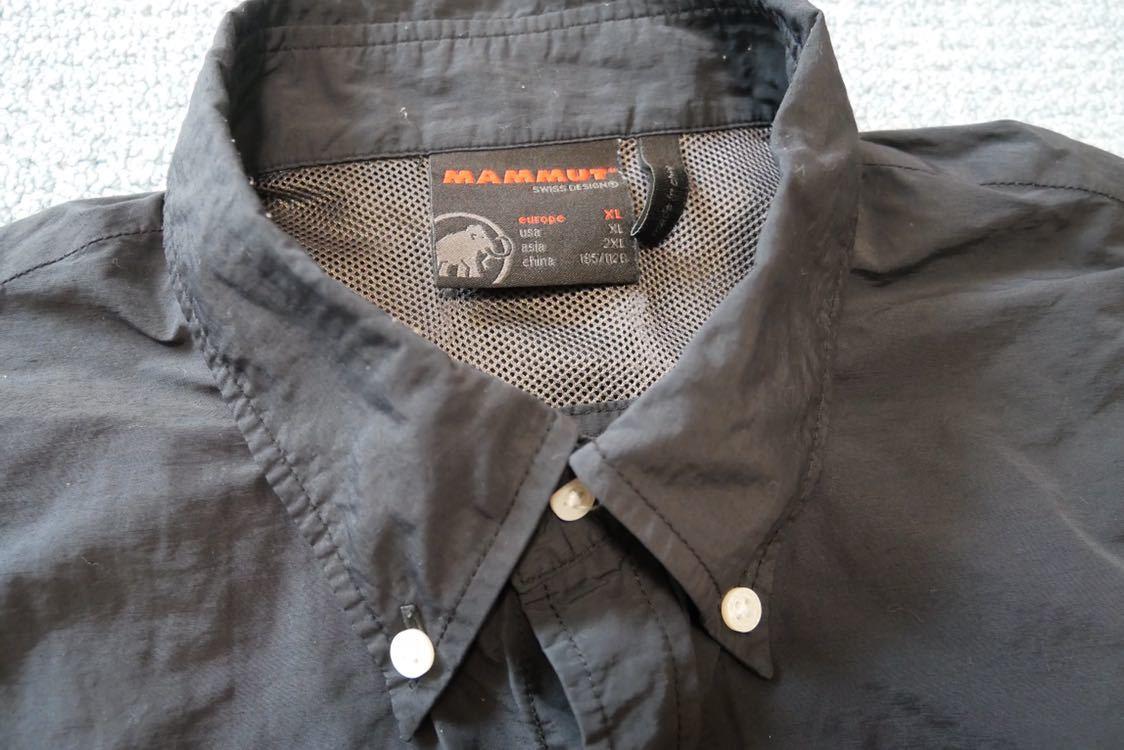 【 MAMMUT マムート BOULDER Shirts Short 半袖 速乾 BDシャツ ボタンダウン シャツ 黒 ブラック XLサイズ 】_画像3