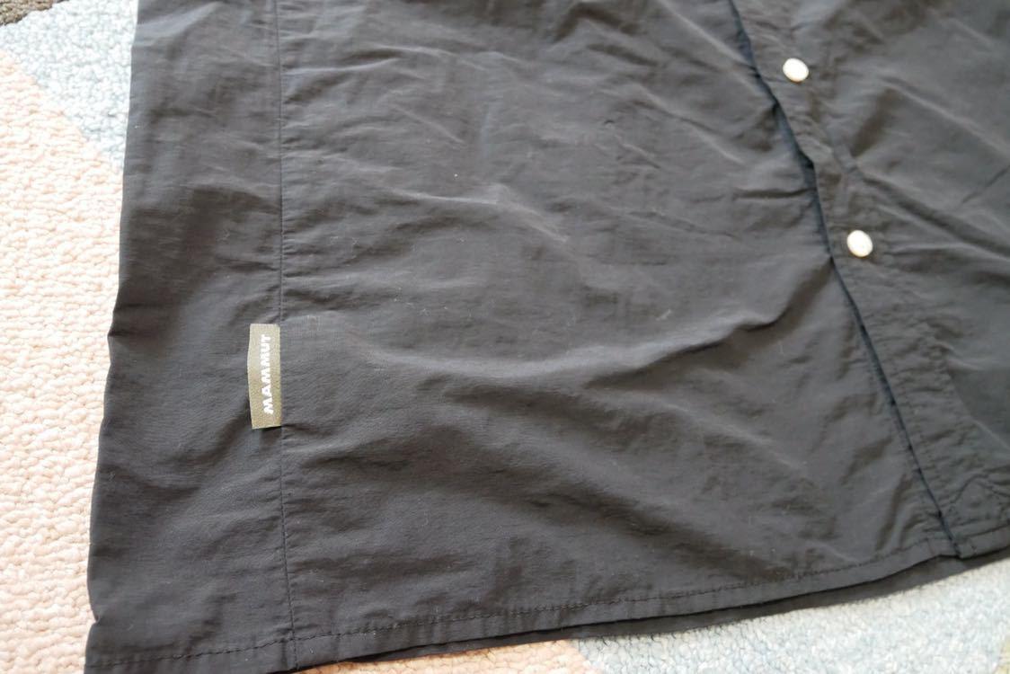 【 MAMMUT マムート BOULDER Shirts Short 半袖 速乾 BDシャツ ボタンダウン シャツ 黒 ブラック XLサイズ 】_画像6