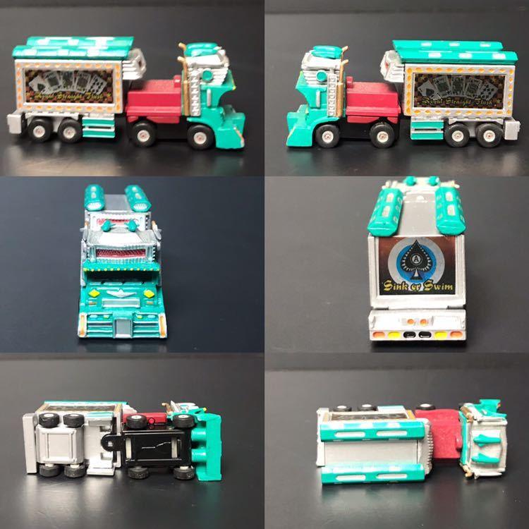 [京] デコトラ ミニカー 5台セット 極楽浄土 麻雀街道 福寿丸 トラック 玩具 k431_画像2