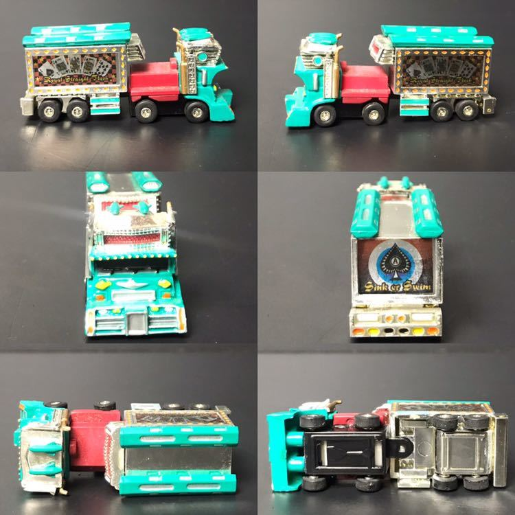 [京] デコトラ ミニカー 5台セット 極楽浄土 麻雀街道 福寿丸 トラック 玩具 k431_画像6
