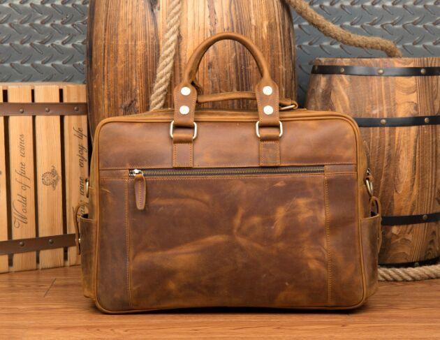 【純手工細作】上層牛革100%メンズビジネスバッグ 書類かばん ビジネスバッグ ショルダーバッグ メンズバッグ 鞄Z46*_画像2