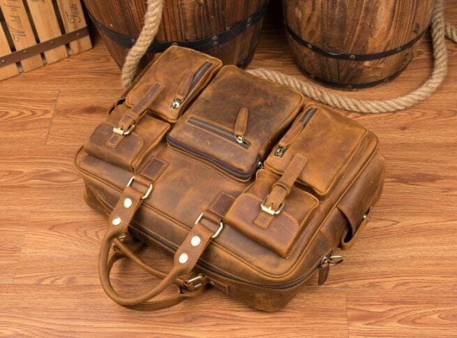 【純手工細作】上層牛革100%メンズビジネスバッグ 書類かばん ビジネスバッグ ショルダーバッグ メンズバッグ 鞄Z46*_画像6