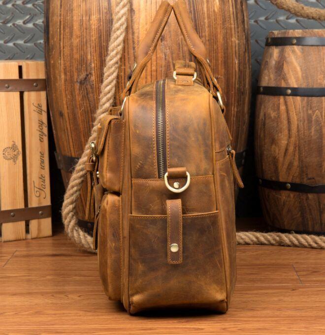 【純手工細作】上層牛革100%メンズビジネスバッグ 書類かばん ビジネスバッグ ショルダーバッグ メンズバッグ 鞄Z46*_画像4