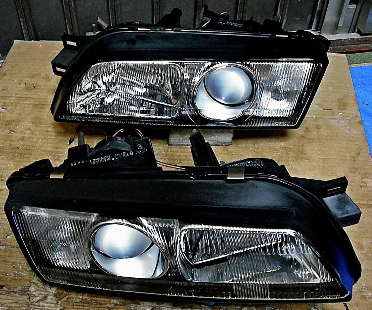美品 日産純正 中古 BNR32 スカイライン GT-R 前期 R32 HCR32 HR32 プロジェクターヘッドライト左右_画像2