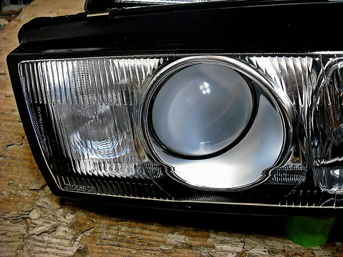 美品 日産純正 中古 BNR32 スカイライン GT-R 前期 R32 HCR32 HR32 プロジェクターヘッドライト左右_画像6