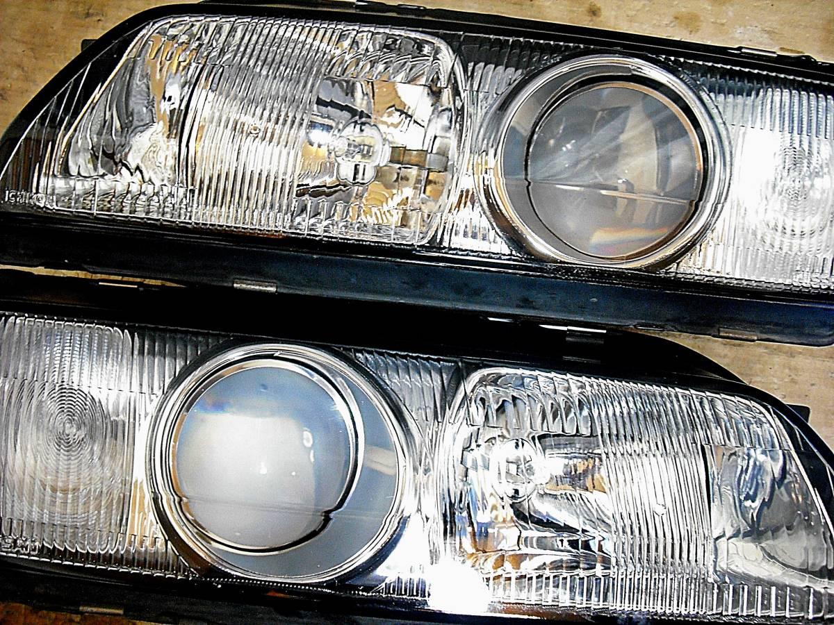 美品 日産純正 中古 BNR32 スカイライン GT-R 前期 R32 HCR32 HR32 プロジェクターヘッドライト左右_画像8