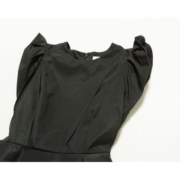 美品 FRAY ID ワンピース ドレス フリル リボン 二次会 パーティ 結婚式 大人 可愛い 黒 0 日本製 m0052-06-002_画像3