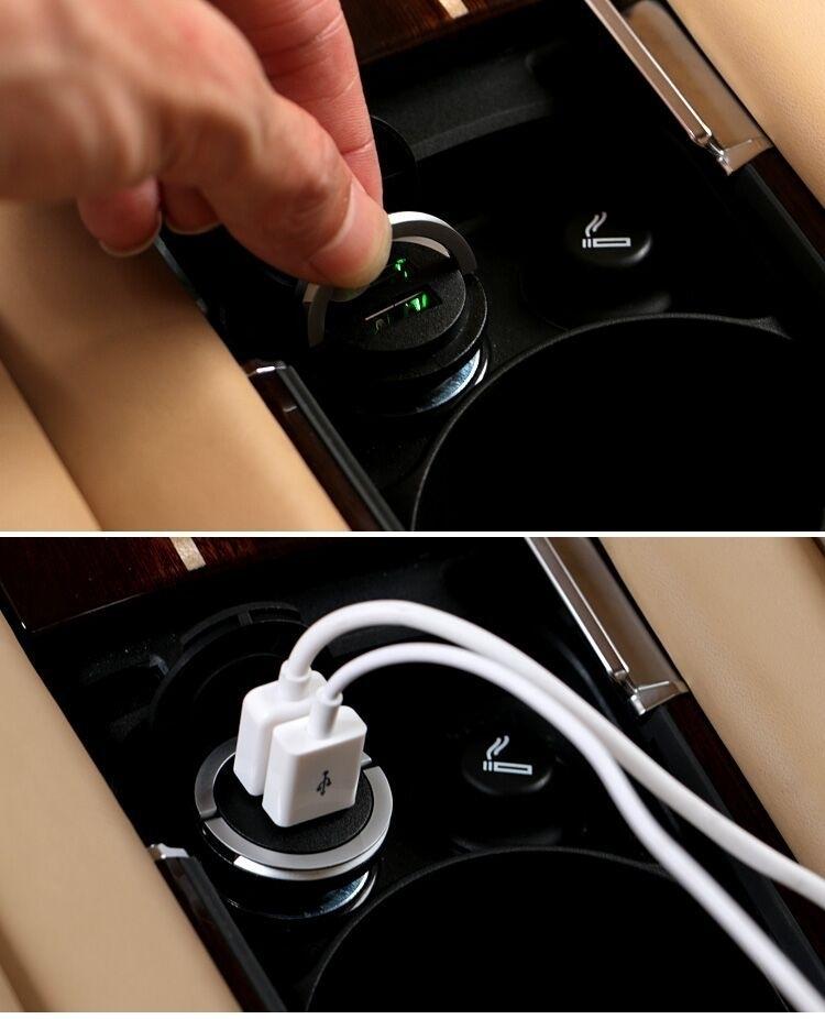 新品 BMW純正 Interior accessories デュアル USB チャージャー 全車種対応F10F11F20F21F30F31E60E90X1X5などに_画像3