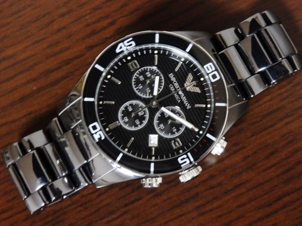 正規品 美品 ARMANI エンポリオ アルマーニ AR1421 セラミカ クロノグラフ セラミック 腕時計_画像2