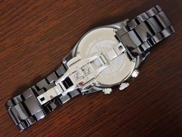 正規品 美品 ARMANI エンポリオ アルマーニ AR1421 セラミカ クロノグラフ セラミック 腕時計_画像3