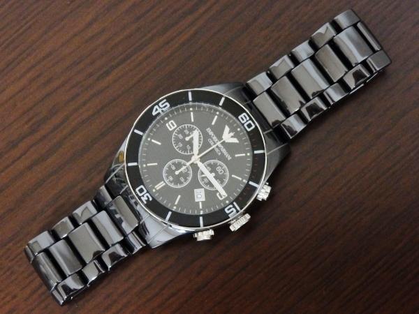 正規品 美品 ARMANI エンポリオ アルマーニ AR1421 セラミカ クロノグラフ セラミック 腕時計_画像6