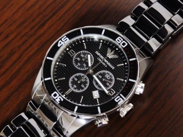正規品 美品 ARMANI エンポリオ アルマーニ AR1421 セラミカ クロノグラフ セラミック 腕時計_画像7