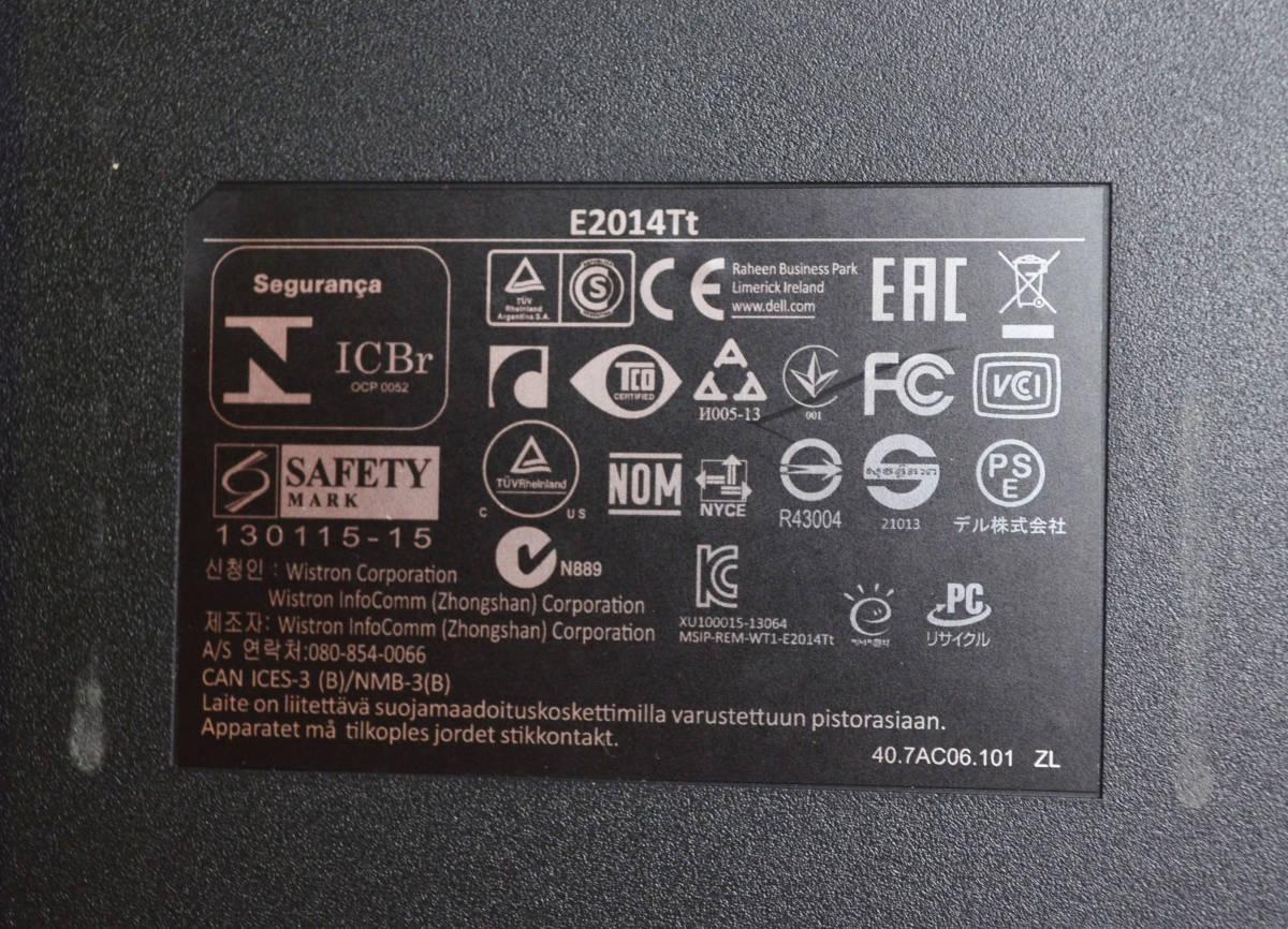 d212 DELL E2014Tt タッチパネル 19.5型ワイド LED 2ms_画像8