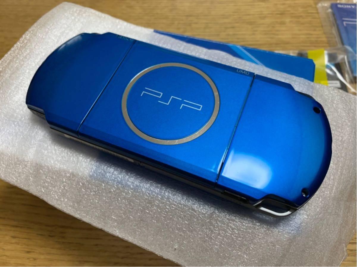 【美品】PSP3000☆本体☆バイブラントブルー☆_画像4