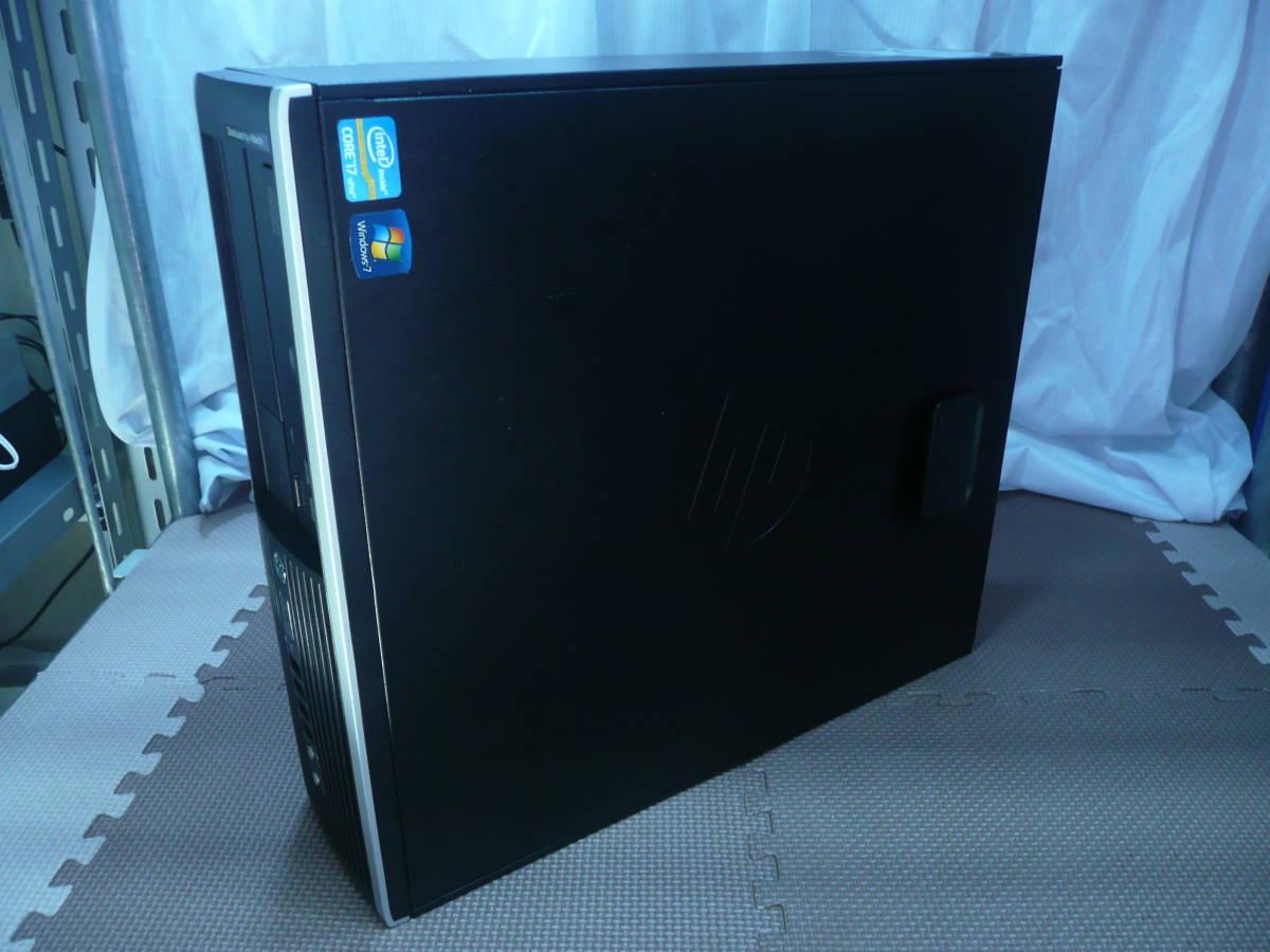 [省スペデスク] HP Compaq Elite 8200SFF【i7-2600 3.4GHz/6GBRAM/1TBHDD/GTX750tiグラボ/Win7pro-64(HDリカバリ)】_画像3