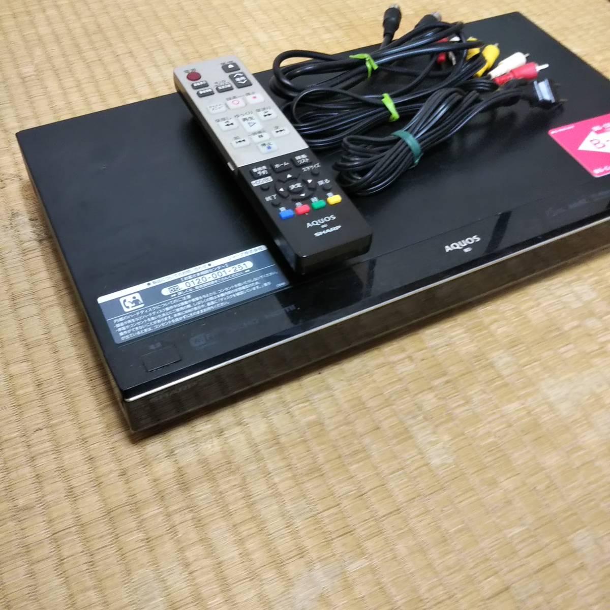 SHARP♪シャープ♪AQUOS/アクオス/BD-T510/ブルーレイレコーダー/3チューナー/500GB/HDD/再生/OK/おまけ/リモコン/ケーブル他/ジャンク_画像3