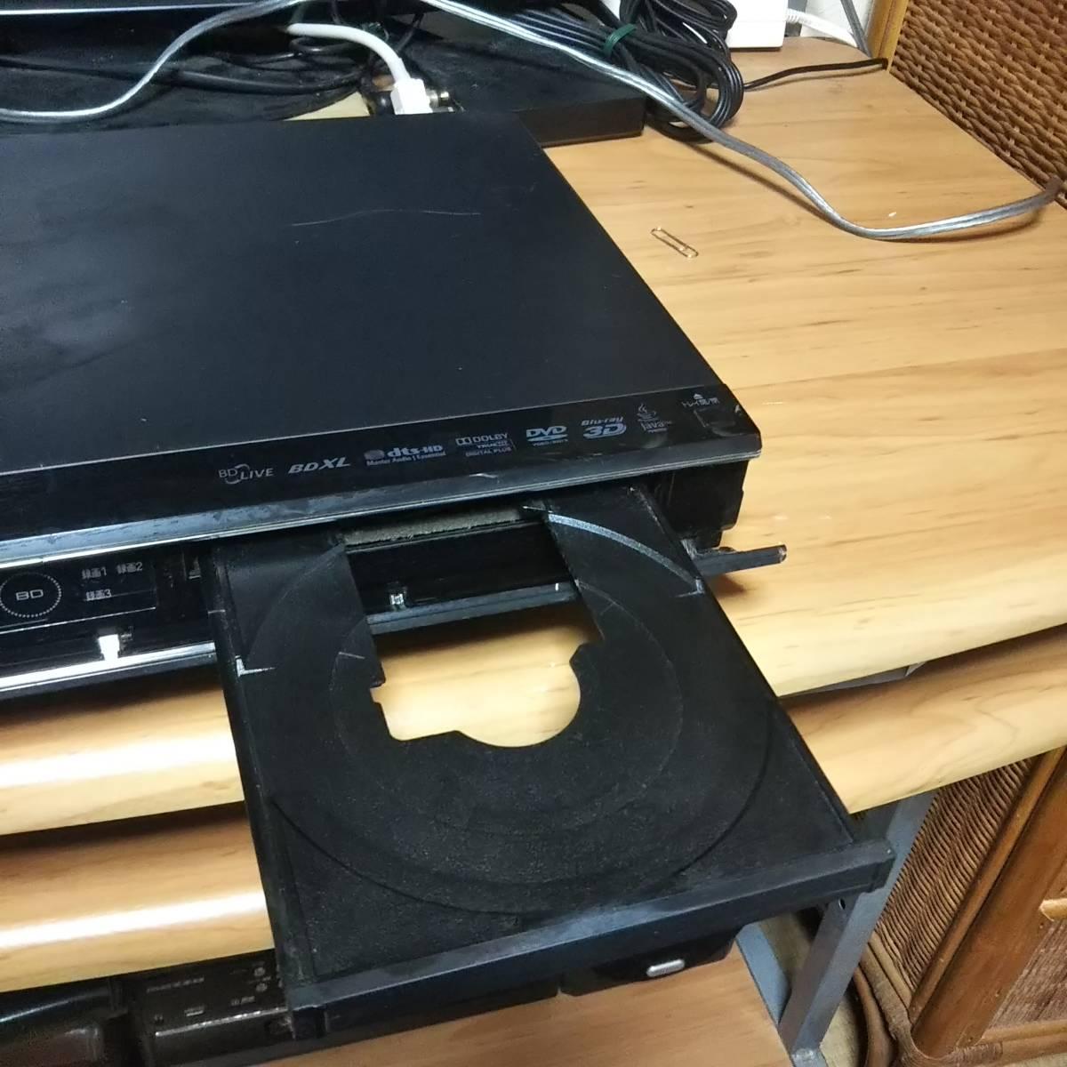 SHARP♪シャープ♪AQUOS/アクオス/BD-T510/ブルーレイレコーダー/3チューナー/500GB/HDD/再生/OK/おまけ/リモコン/ケーブル他/ジャンク_画像8