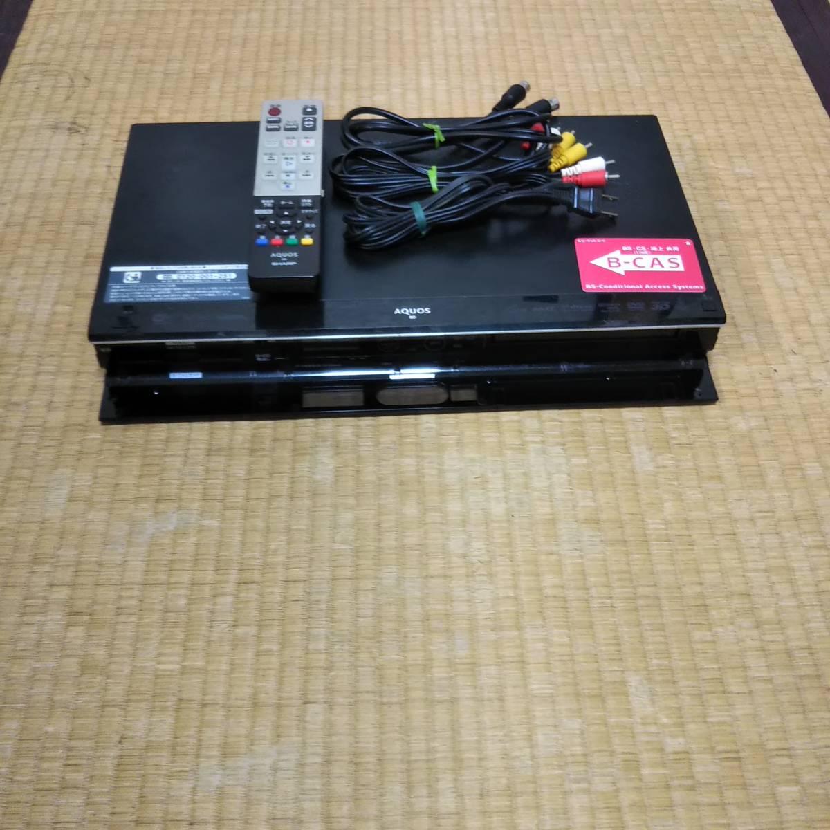 SHARP♪シャープ♪AQUOS/アクオス/BD-T510/ブルーレイレコーダー/3チューナー/500GB/HDD/再生/OK/おまけ/リモコン/ケーブル他/ジャンク_画像4