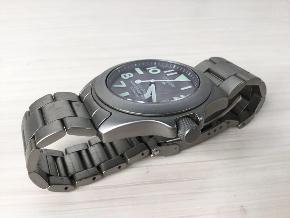 CITIZEN シチズン プロマスター ECO-Drive エコドライブ 20bar RESIST TITANIUM チタン7828-H09971 TA GN-4W-UL 920095 メンズ 男性 腕時計_画像7