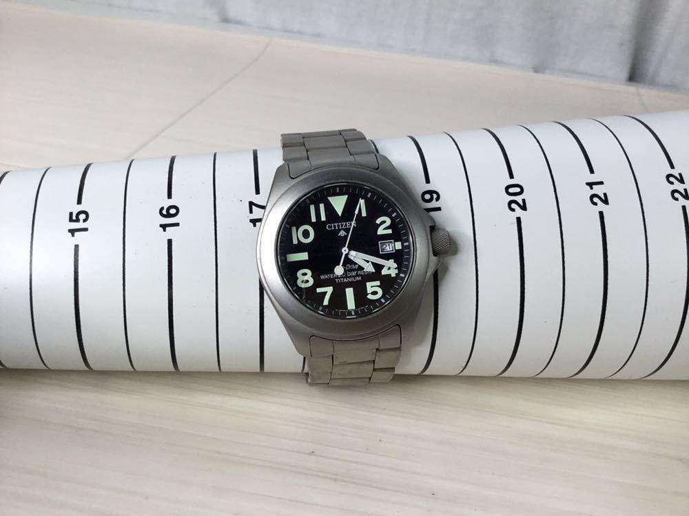 CITIZEN シチズン プロマスター ECO-Drive エコドライブ 20bar RESIST TITANIUM チタン7828-H09971 TA GN-4W-UL 920095 メンズ 男性 腕時計_画像9