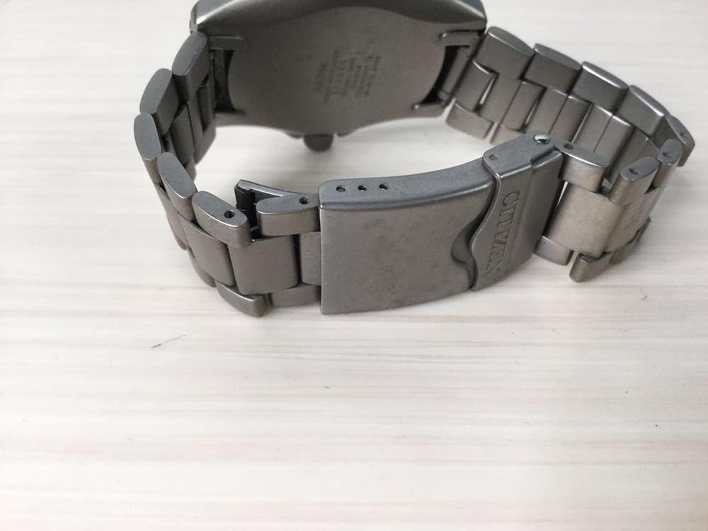 CITIZEN シチズン プロマスター ECO-Drive エコドライブ 20bar RESIST TITANIUM チタン7828-H09971 TA GN-4W-UL 920095 メンズ 男性 腕時計_画像8