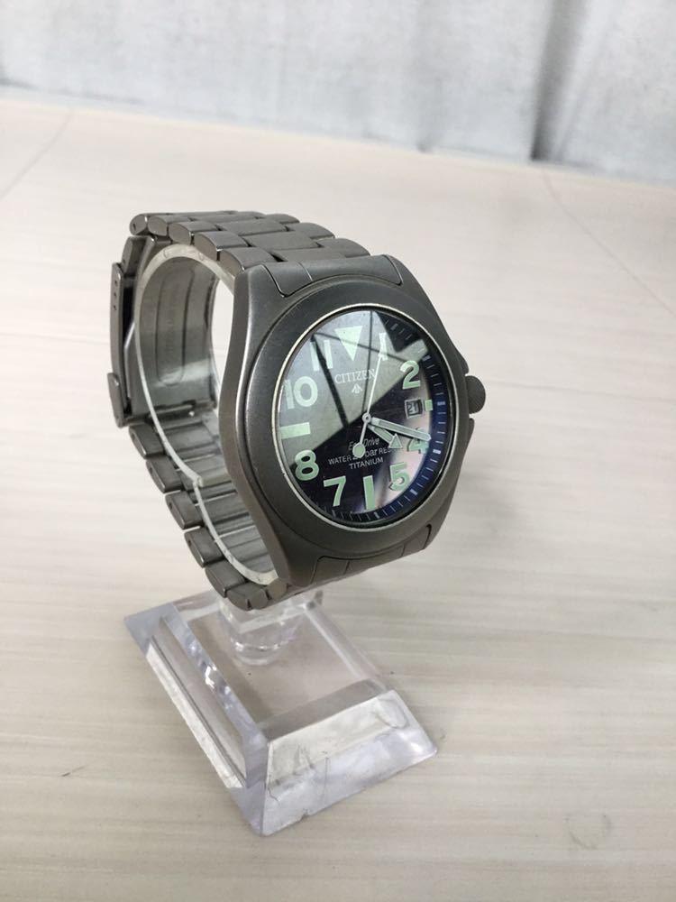 CITIZEN シチズン プロマスター ECO-Drive エコドライブ 20bar RESIST TITANIUM チタン7828-H09971 TA GN-4W-UL 920095 メンズ 男性 腕時計_画像5