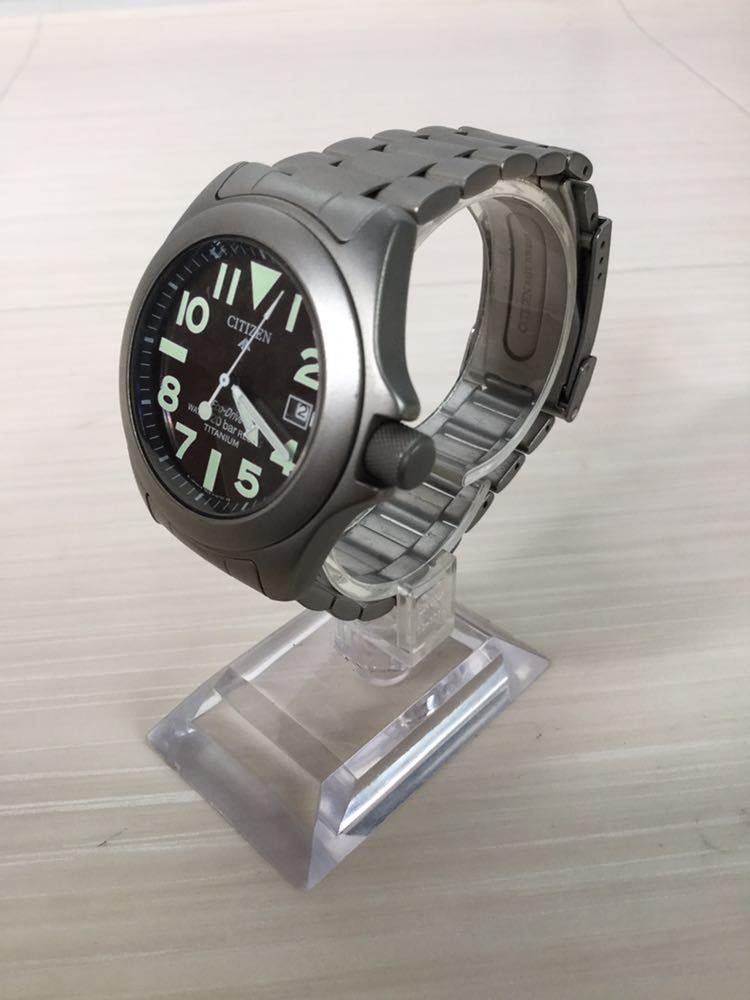 CITIZEN シチズン プロマスター ECO-Drive エコドライブ 20bar RESIST TITANIUM チタン7828-H09971 TA GN-4W-UL 920095 メンズ 男性 腕時計_画像2
