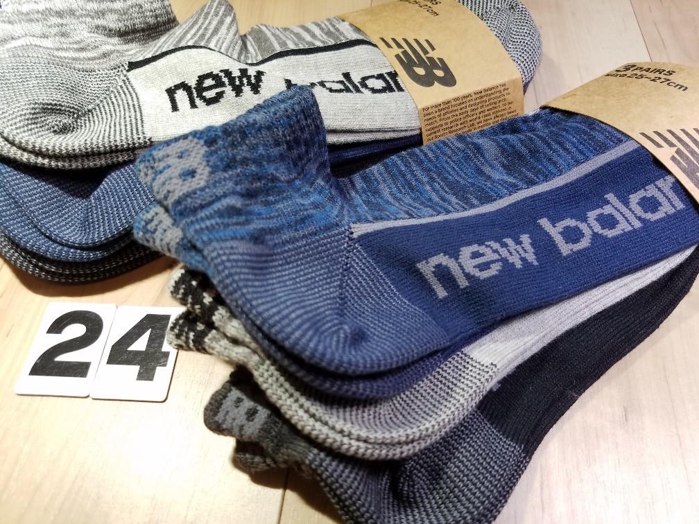 d4c89c714f131 (24)3色6足組 メンズ ニューバランス スニーカーソックス 綿混 紳士サイズ