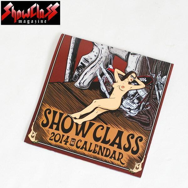 SHOW CLASS MAGAZINE ショークラスマガジン 2014年カレンダー/KA632 チョッパー ショベル パン_画像1