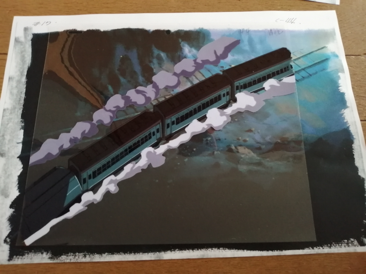 【セル画】 電車のセル画4枚セット 作品不明 動画付 コピー背景付 背景は、1枚だけお付けします。_画像5