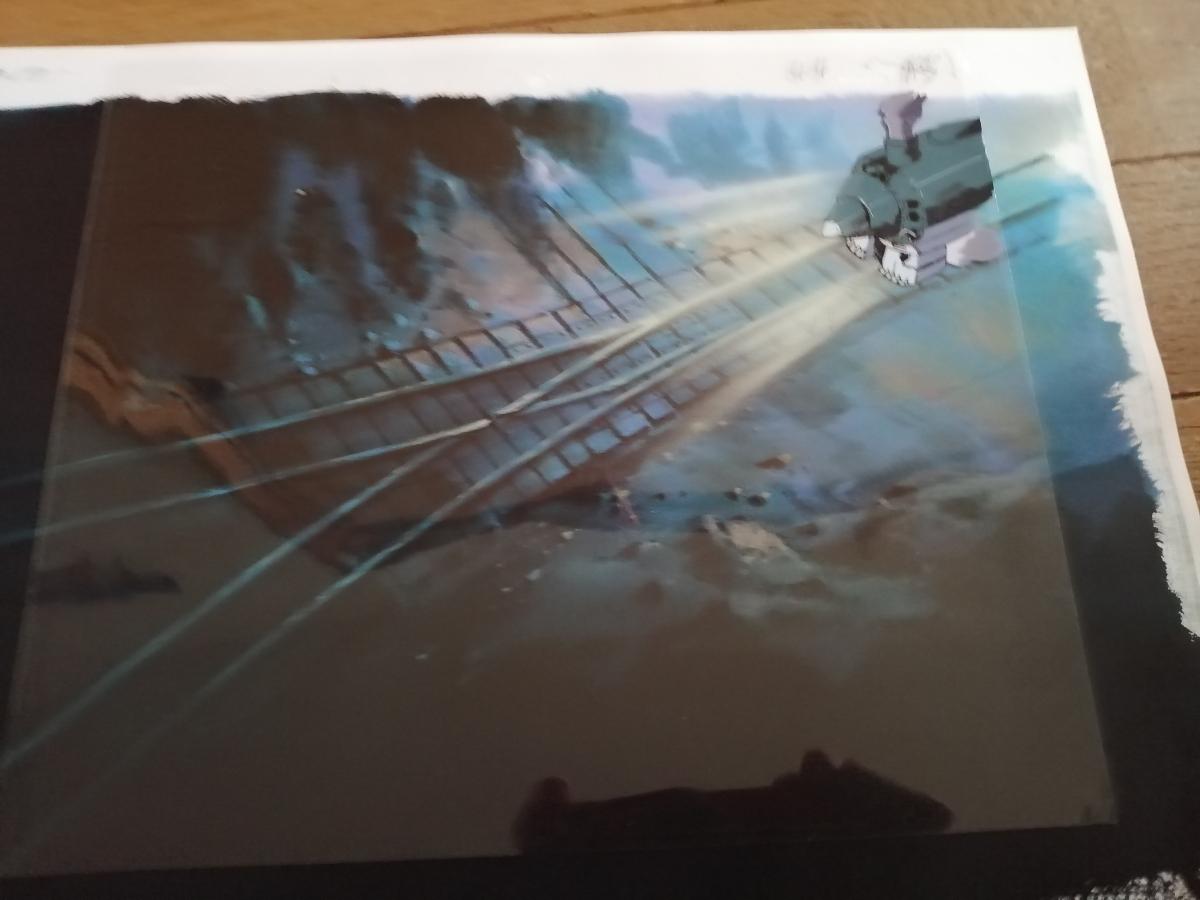 【セル画】 電車のセル画4枚セット 作品不明 動画付 コピー背景付 背景は、1枚だけお付けします。_画像2