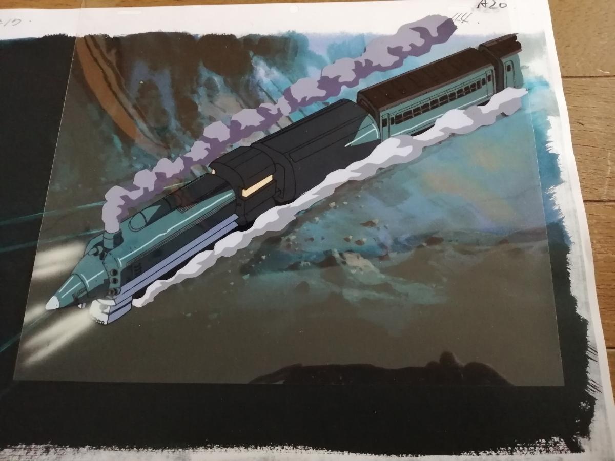 【セル画】 電車のセル画4枚セット 作品不明 動画付 コピー背景付 背景は、1枚だけお付けします。_画像4