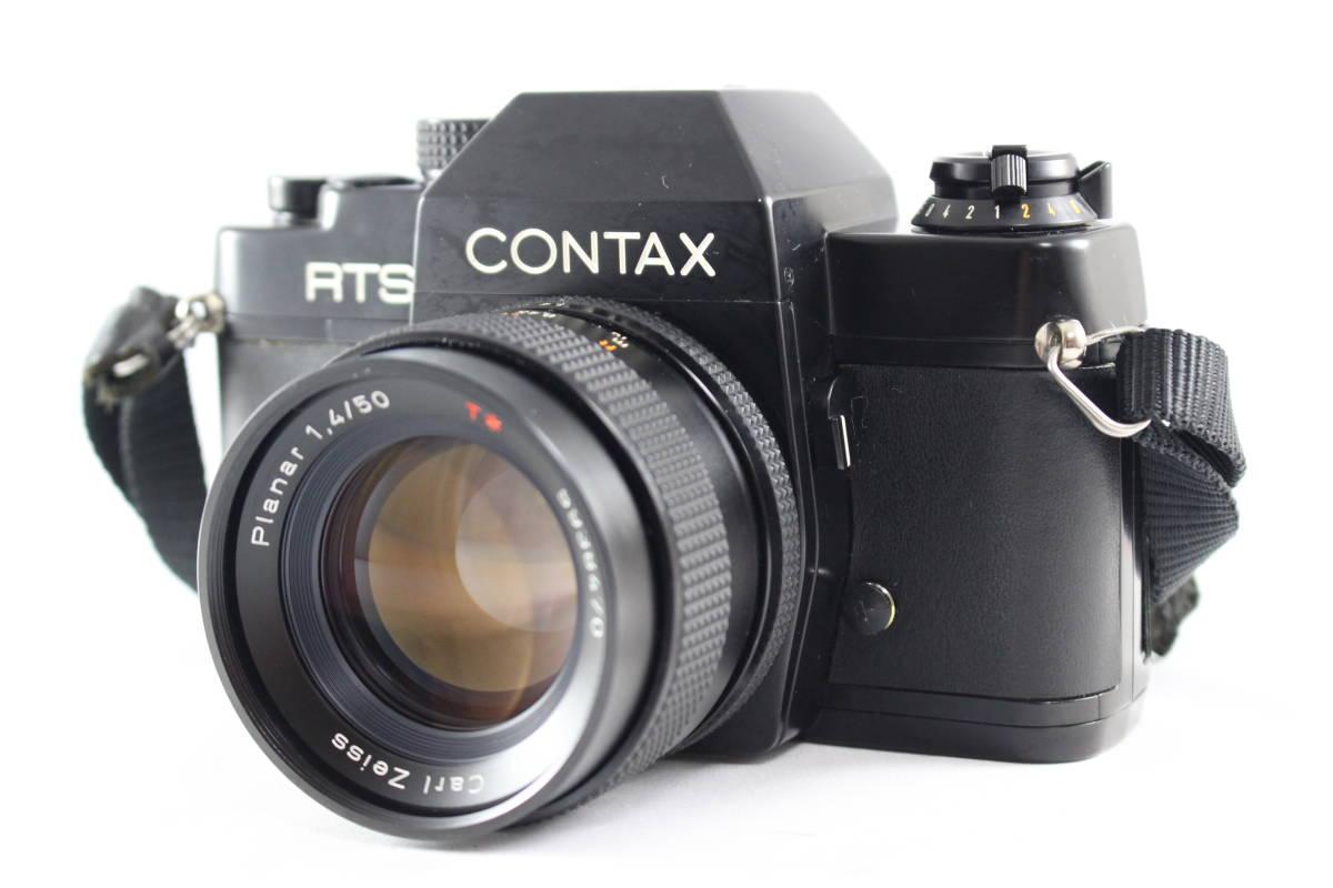 CONTAX コンタックス RTS フィルムカメラ ボディ + Carl Zeiss カールツァイス Planar T* 50mm F1.4 レンズ セット_画像3