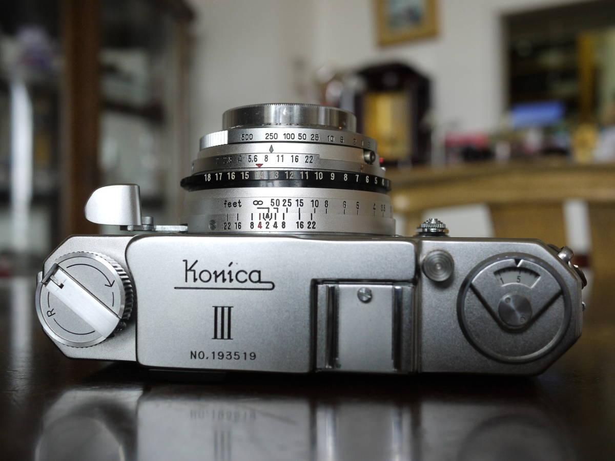 KONICA コニカⅢ ヘキサノン48ミリf2(メンテナンスほぼ不要でした ヘキサノンの写りは秀逸 すぐに撮影できます)_画像2