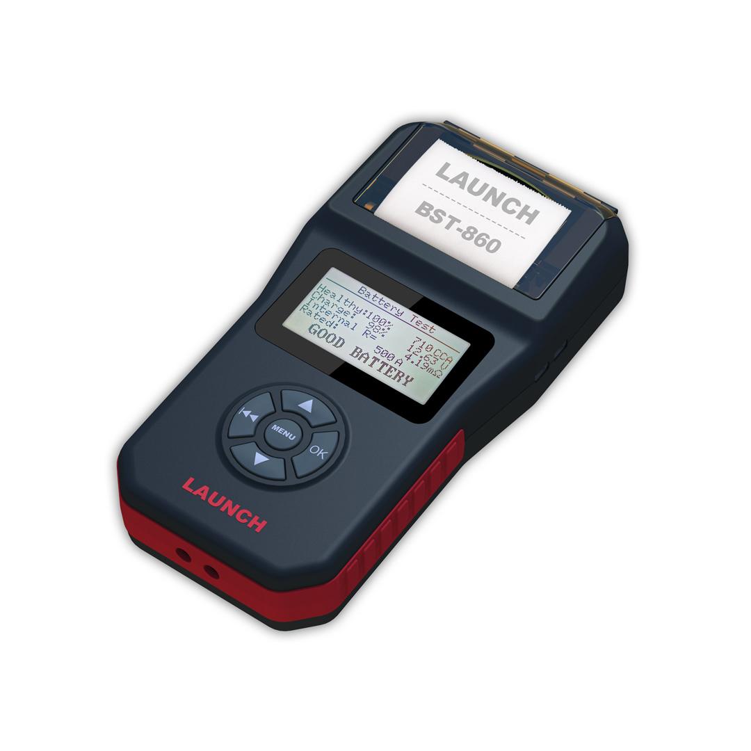 【正規輸入品】LAUNCH BST-860 - バッテリーテスター 6V&12V プリンター内蔵 日本語表示 CCA換算プログラム内蔵 LCDディスプレイ_画像3