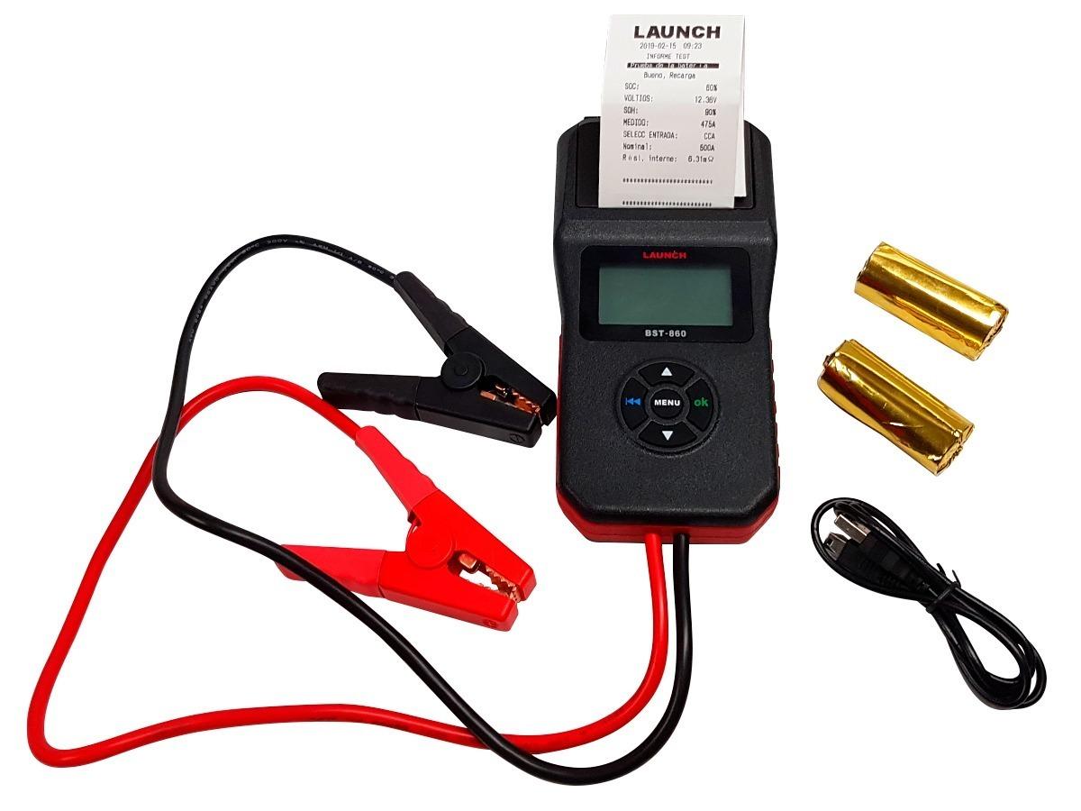 【正規輸入品】LAUNCH BST-860 - バッテリーテスター 6V&12V プリンター内蔵 日本語表示 CCA換算プログラム内蔵 LCDディスプレイ_画像1