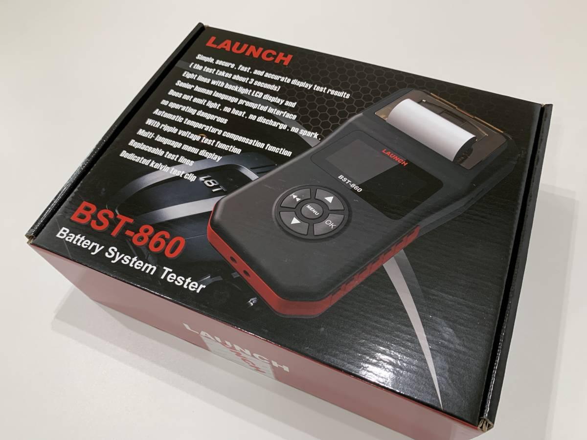 【正規輸入品】LAUNCH BST-860 - バッテリーテスター 6V&12V プリンター内蔵 日本語表示 CCA換算プログラム内蔵 LCDディスプレイ_画像9