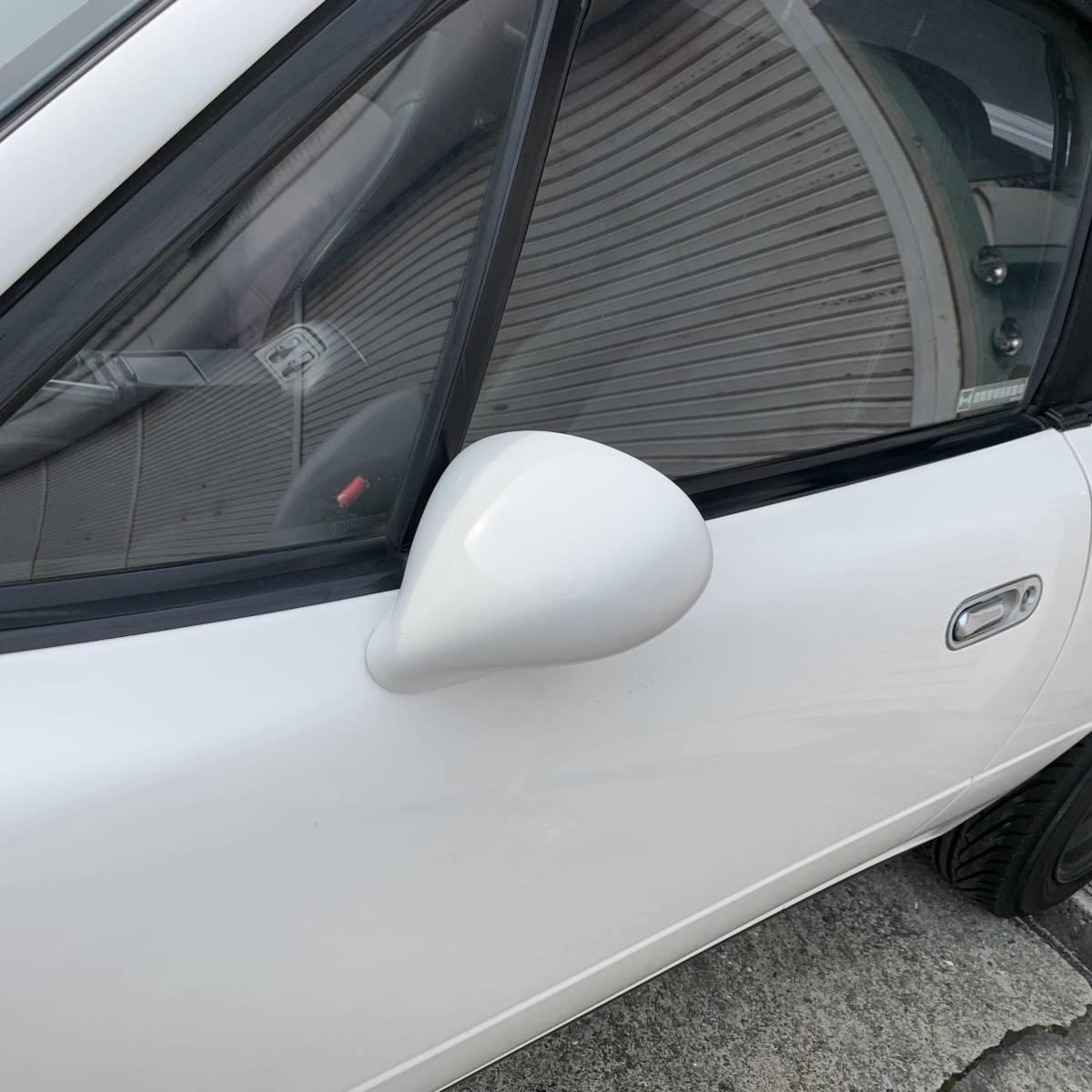 ★ユーノスロードスターガレージハンドレッドワン製 NA6C NA8C ドアミラーシャストホワイト_画像7