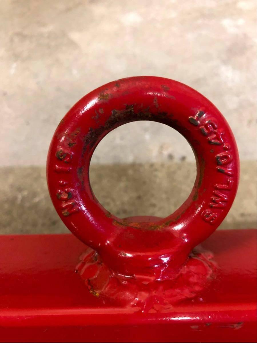 【送料無料】 天秤フック 500kg ユニック クレーン リフター HHH 平均 吊り具 ダブル 美品 フォークリフト フック_画像4