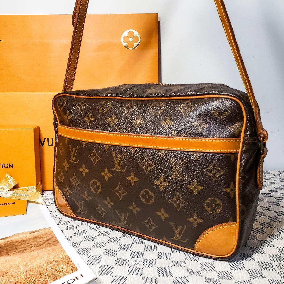 1円 極美品 LV ルイヴィトン モノグラム Louis Vuitton ショルダーバッグ トートバッグ ハンドバッグ 褐色 斜め掛け かばん 正規品