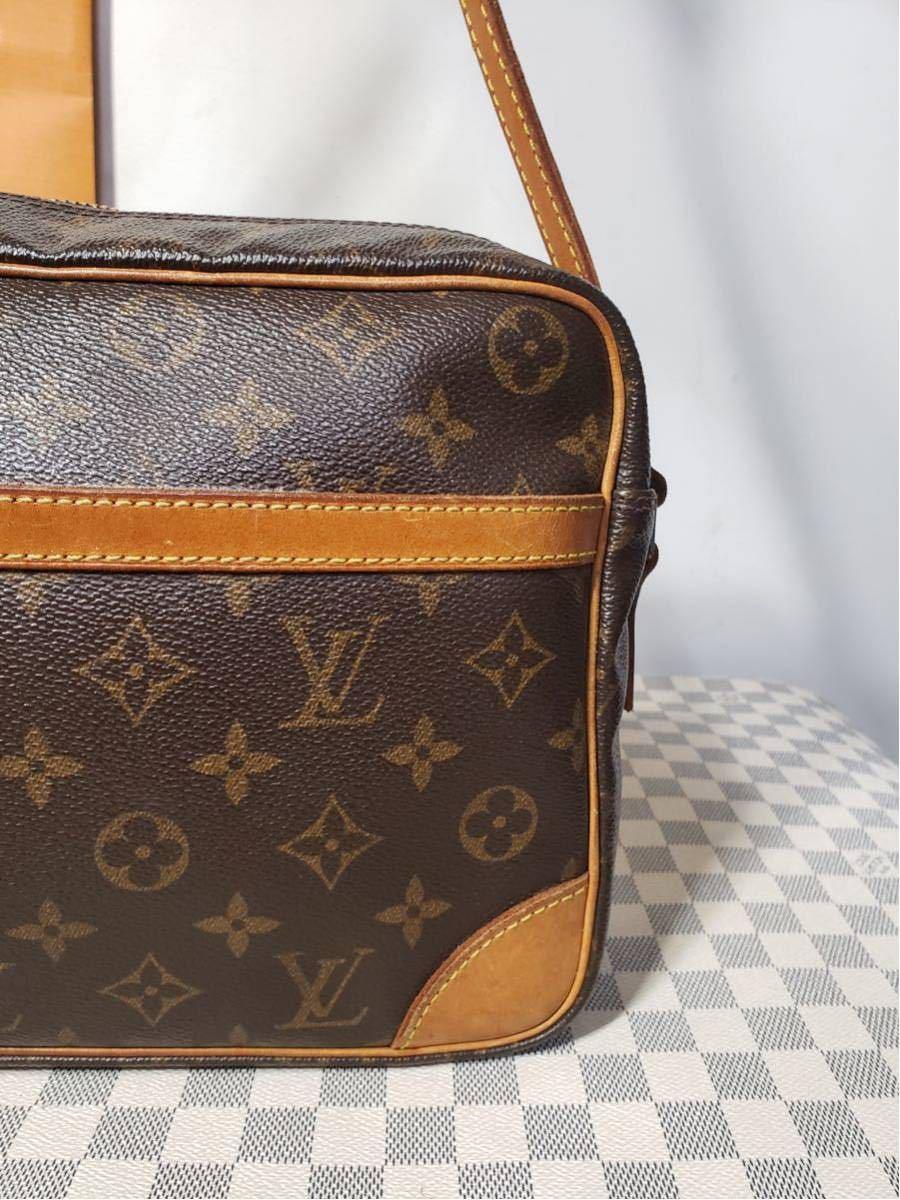 1円 極美品 LV ルイヴィトン モノグラム Louis Vuitton ショルダーバッグ トートバッグ ハンドバッグ 褐色 斜め掛け かばん 正規品_画像3