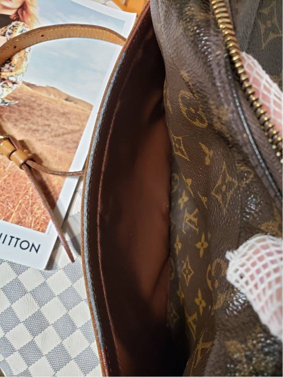 1円 極美品 LV ルイヴィトン モノグラム Louis Vuitton ショルダーバッグ トートバッグ ハンドバッグ 褐色 斜め掛け かばん 正規品_画像9