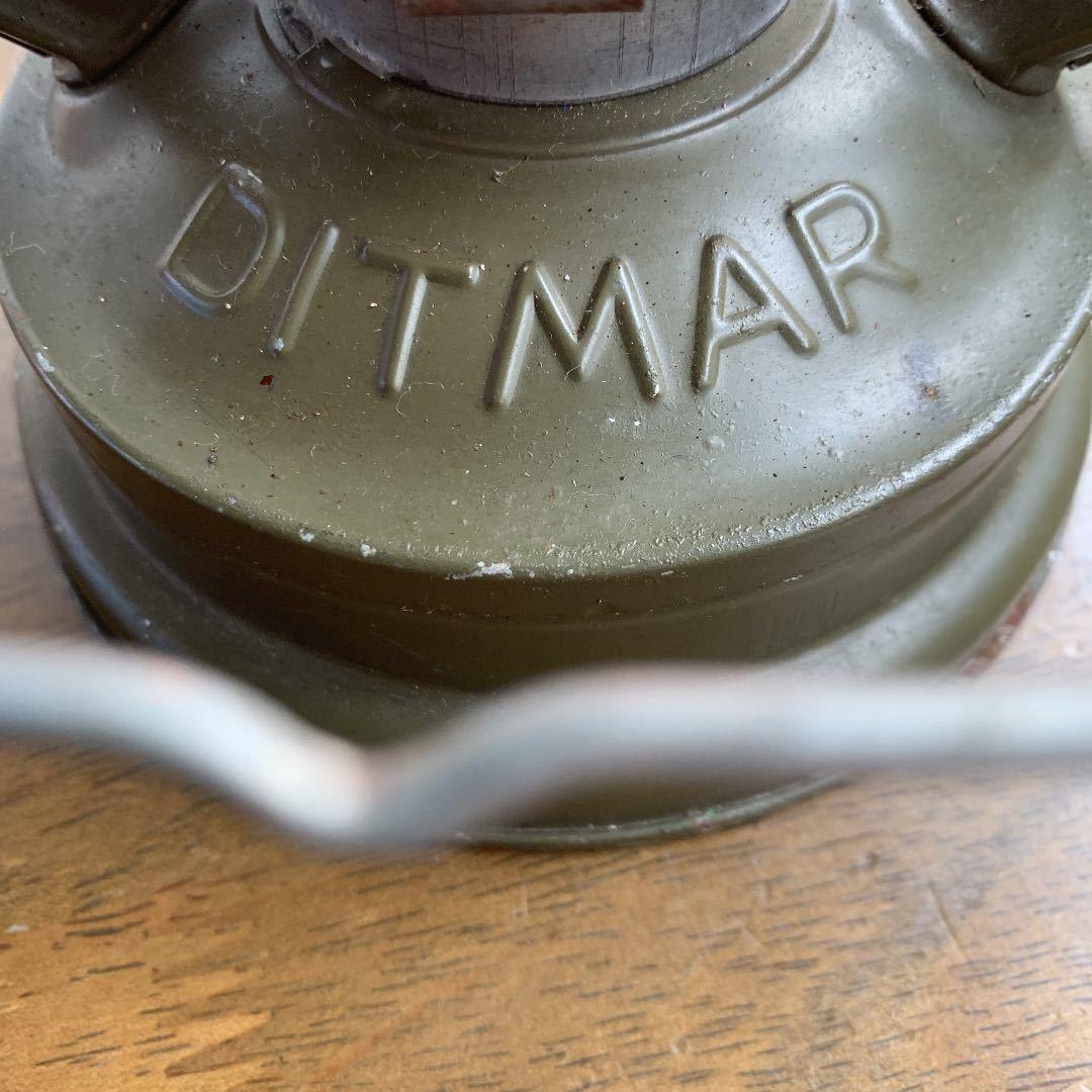 レア DITMAR 805 オリジナルペイント 点火確認済 ビンテージ アンティーク ストーム ランタン feuerhand 176e hasag wwⅡ _画像3