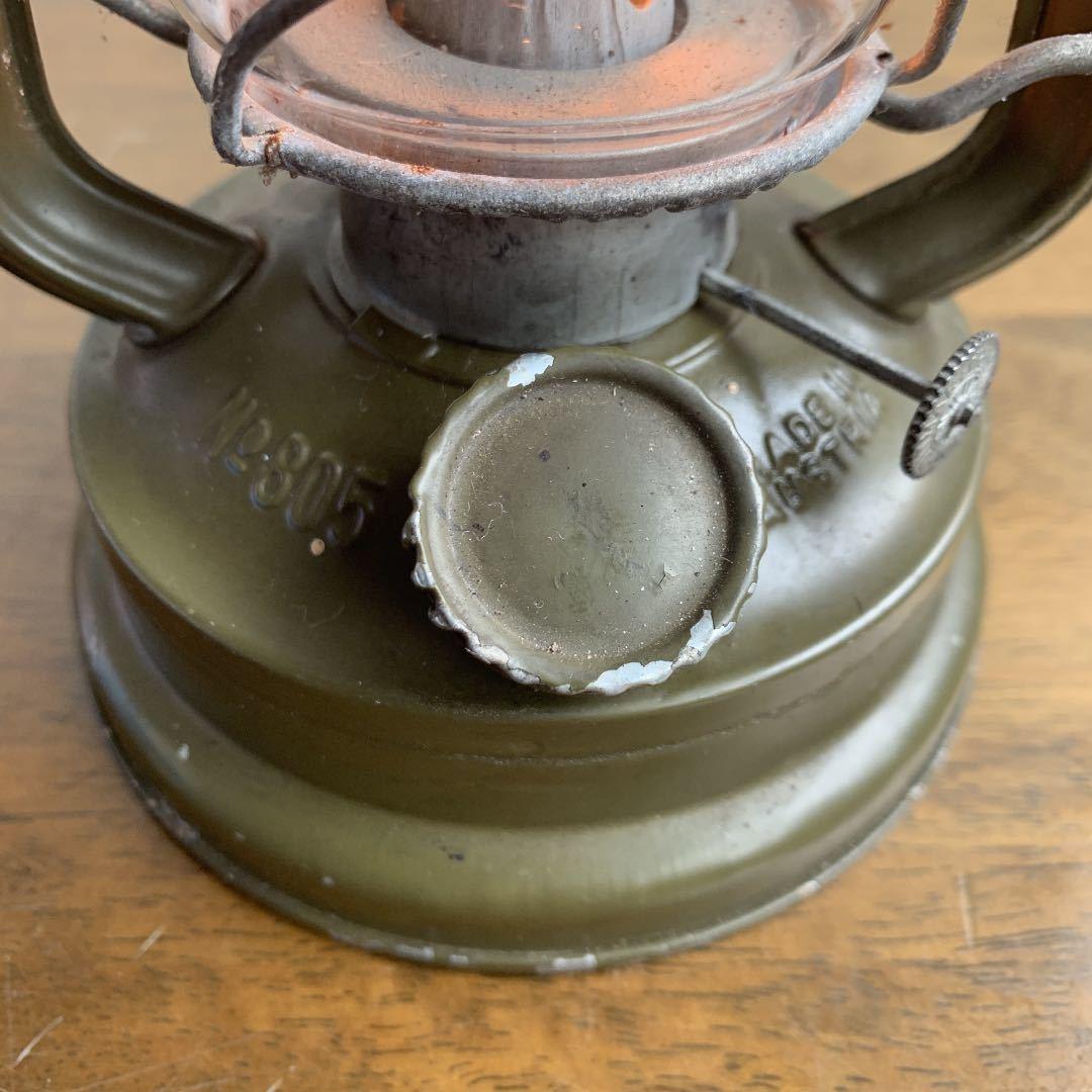 レア DITMAR 805 オリジナルペイント 点火確認済 ビンテージ アンティーク ストーム ランタン feuerhand 176e hasag wwⅡ _画像2