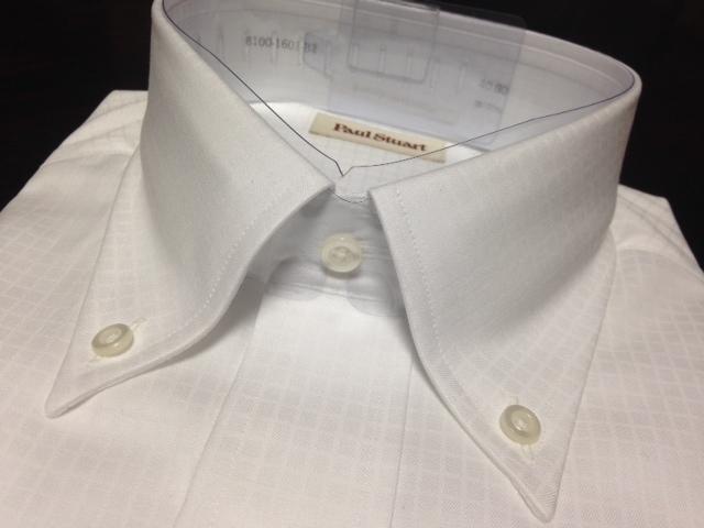 ポールスチュアート★白織柄ボタンダウンワイシャツ M(40-80) やや汚れ有のB品 でも激安です_画像2