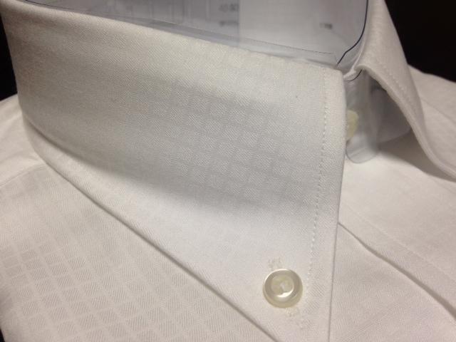 ポールスチュアート★白織柄ボタンダウンワイシャツ M(40-80) やや汚れ有のB品 でも激安です_画像5