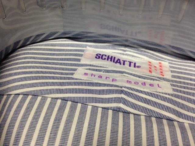 スキャッティ★ブルー×ホワイトストライプワイシャツ M(38-82) クレリック シャープモデル_画像5